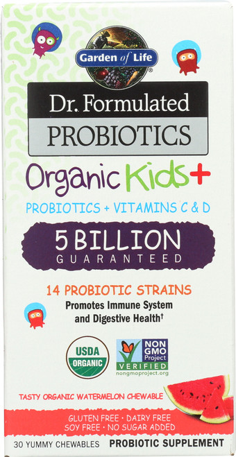 Dr. Formulated Probiotics Organic Kids Watermelon 30 Chewables