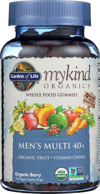 mykind Organics Mens 40 Multi Gummies 120 Count