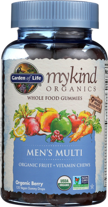 mykind Organics Mens Multi Gummies 120 Count