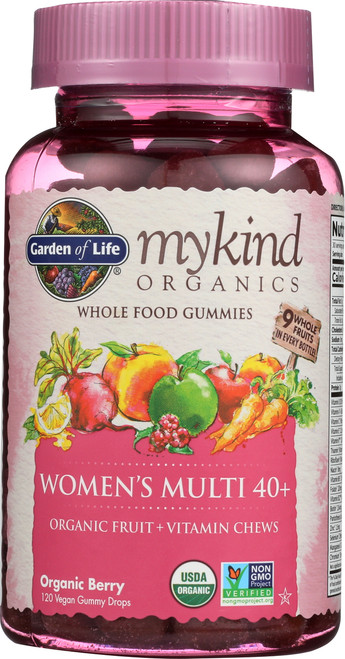 mykind Organics Womens 40 Multi Gummies 120 Count