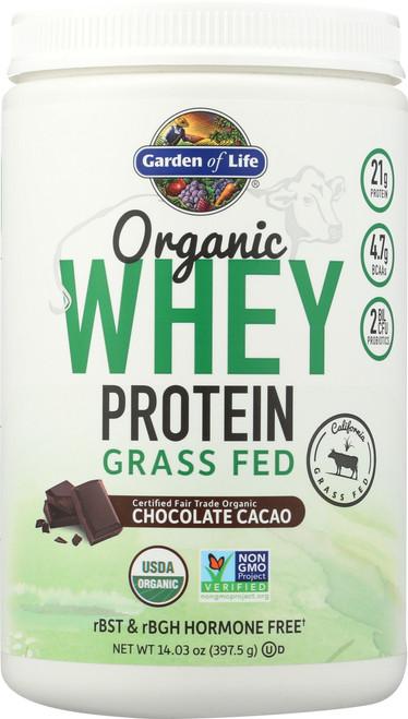 Organic Grass Fed Whey Chocolate 397.5G Powder