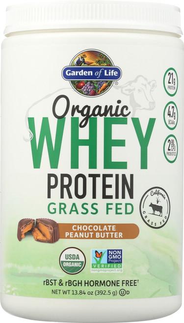 Organic Grass Fed Whey Peanut Butter 392.5G Powder