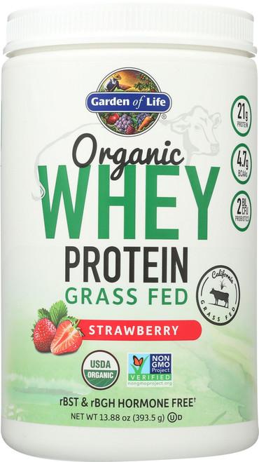 Organic Grass Fed Whey Strawberry 393.5G Powder