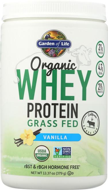 Organic Grass Fed Whey Vanilla 379G Powder