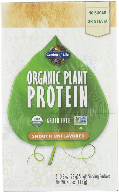 Organic Plant Protein Unflavored 5 Count Tray