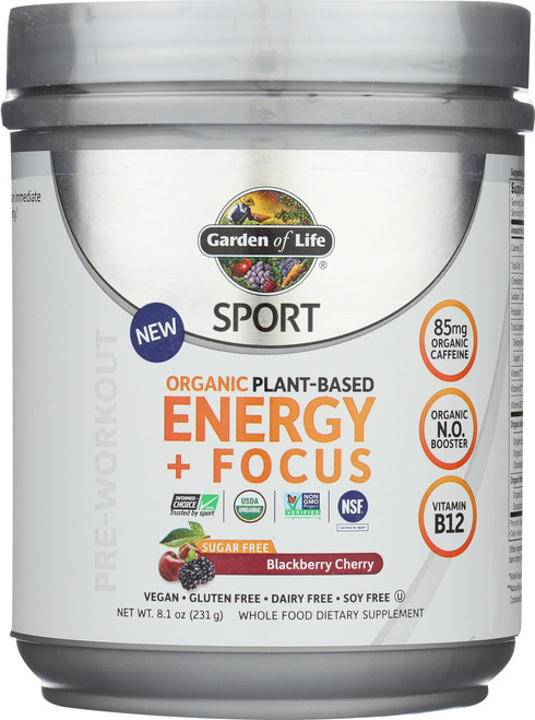 Organic Plant-Based Energy + Focus 231G Powder