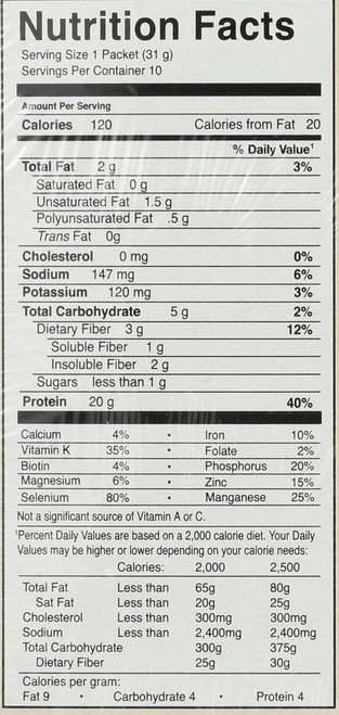 Protein & Greens - Chocolate Packet 10 Count Tray