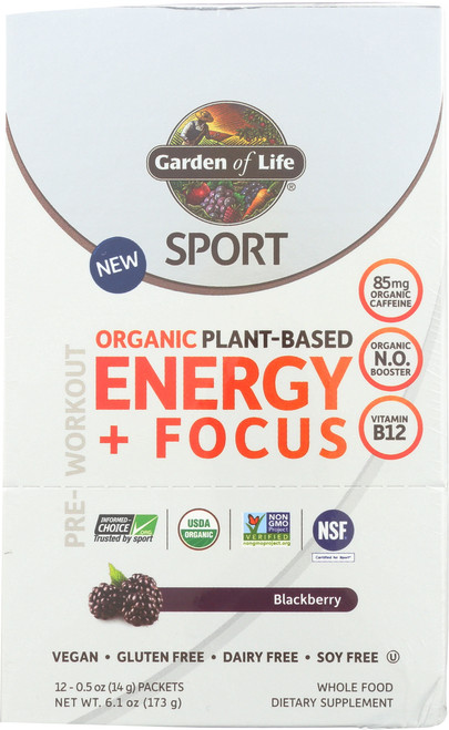 Sport Organic - Energy Blackberry T 12 Ct Tray