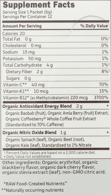 Sport Organic - Energy Sugarfree Blaclkberry Cherry 12 Count Tray