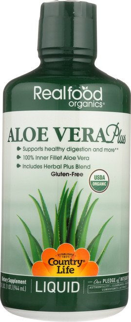Aloe Vera Real Food Organics 32 Fl Oz