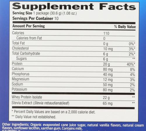 Whey Protein Vanilla 10 Packets