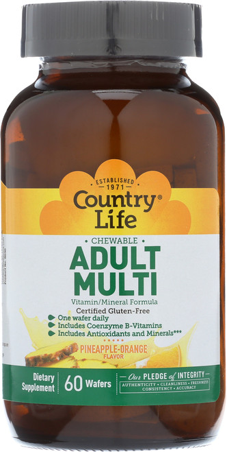 Adult Multivitamin Chewable Pineapple Orange 60 Wafers