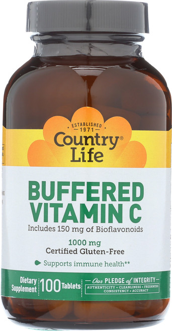 Buffered Vitamin C 1000 Mg  100 Tablets