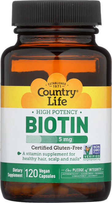 Biotin 5 Mg High Potency 120 Vegan Capsules