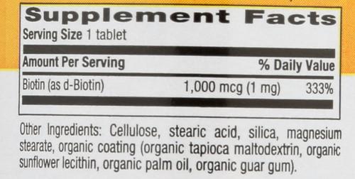 Biotin 1 Mg 100 Tablets