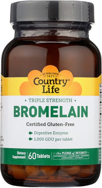 Bromelain Triple Strength 60 Tablets