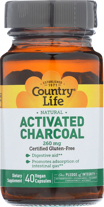 Activated Charcoal 260 Mg  40 Vegan Capsules