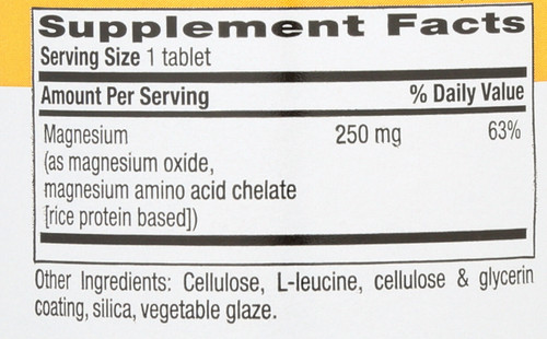 Chelated Magnesium 250 Mg 180 Tablets