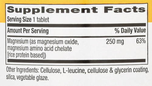 Chelated Magnesium 250 Mg 90 Tablets