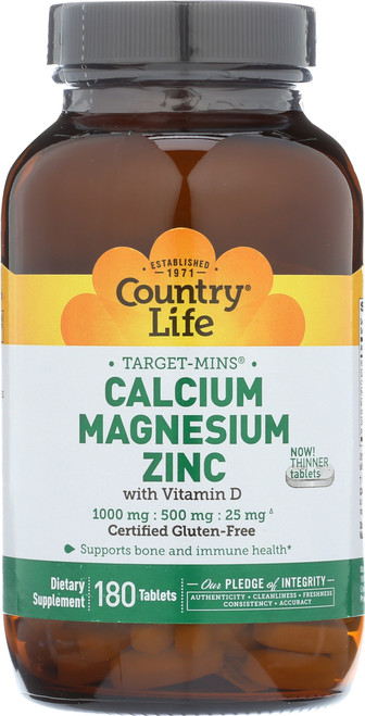 Calcium Magnesium Zinc Supplement With Vitamin D Target-Mins 180 Tablets
