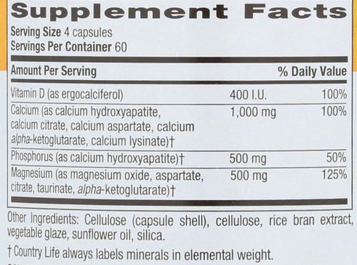 Calcium Magnesium Vitamin D Complex With Vitamin D Complex Target-Mins® 240 Vegan Capsules