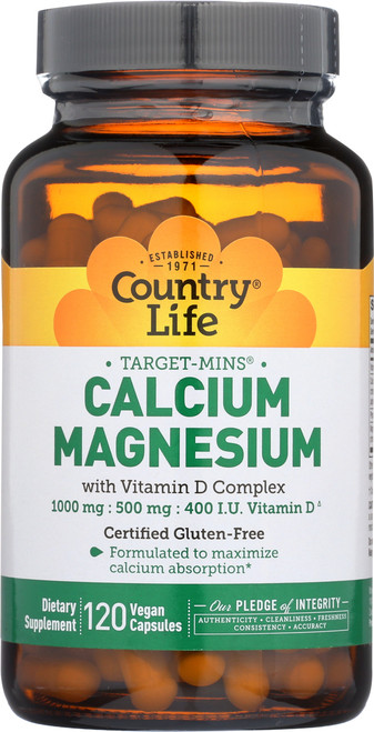 Calcium Magnesium With Vitamin D Complex Dietary Supplement 120 Vegan Capsules