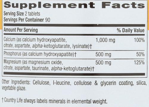 Calcium Magnesium Complex 1000 Mg : 500 Mg Target-Mins® 180 Tablets