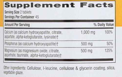 Calcium Magnesium Complex 1000 Mg : 500 Mg Target-Mins 90 Tablets
