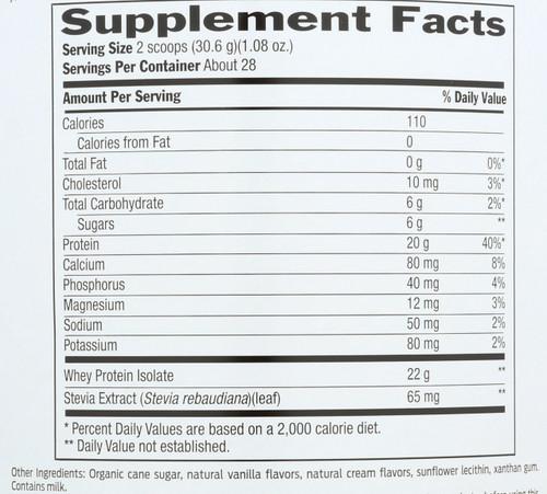 Whey Protein Vanilla 30.2 Oz