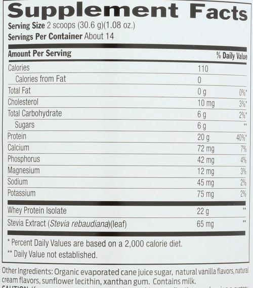 Whey Protein Vanilla 15.1 Oz