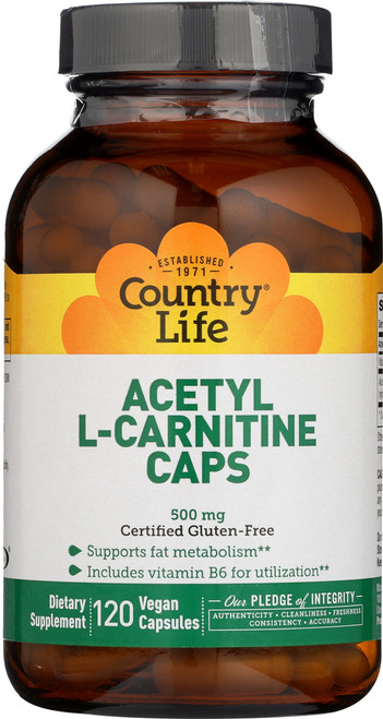 Acetyl L Carnitine 500 Mg  120 Vegan Capsules