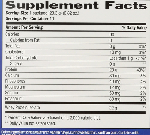 Whey Protein Natural 10 Packets