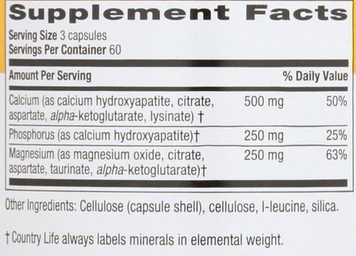 Calcium Magnesium  180 Vegetarian Capsules