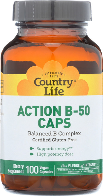 Action B-50 Balanced B Complex 100 Vegan Capsules