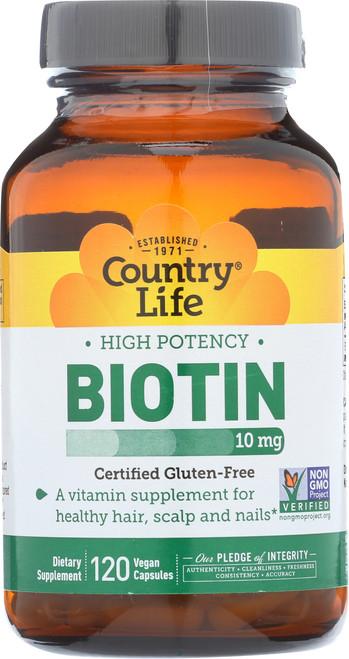 Biotin 10 Mg 120 Vegan Capsules