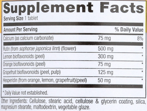 Bio-Rutin Complex 500 Mg 60 Tablets