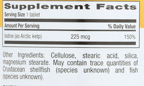 Arctic-Kelp™ 225 Mcg 300 Tablets