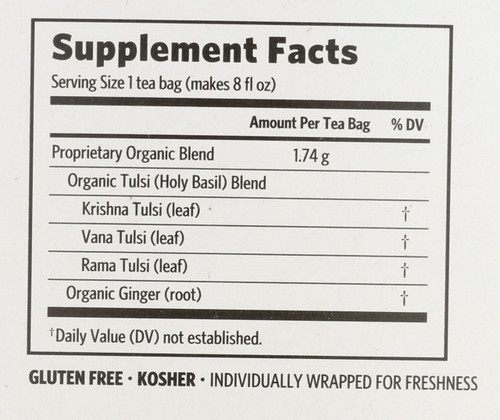 Tulsi Tea Ginger 18 Bags 1.1oz