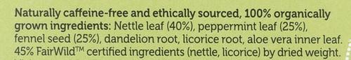 Organic Herbal Tea Cleanse 20 Sachets 36 G