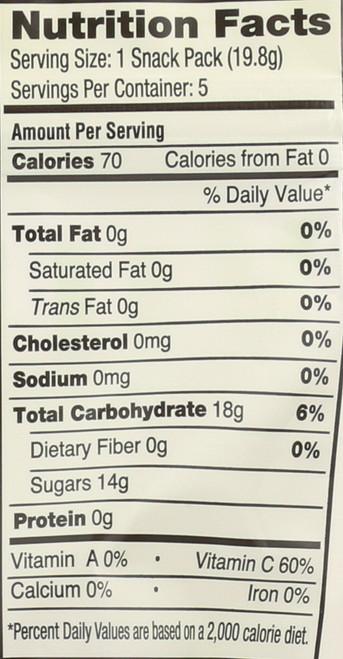 Sour Beans Snack Packs 5 Packs 3.5oz