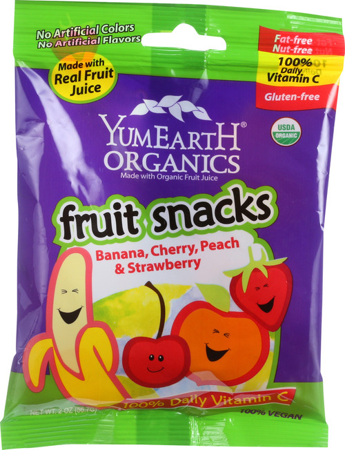 Fruit Snacks Banana, Cherry, Peach, And Strawberry