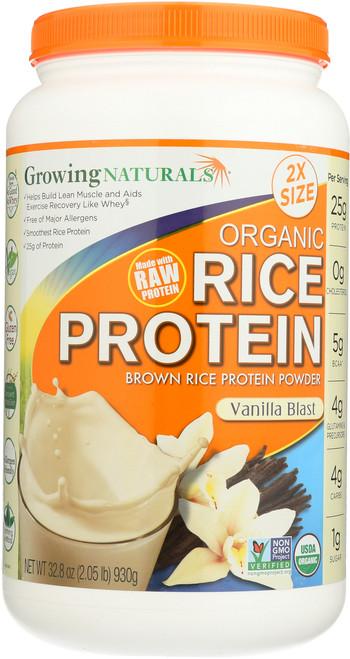 Organic Rice Protein Powder Vanilla - 2 Lb Vanilla Blast