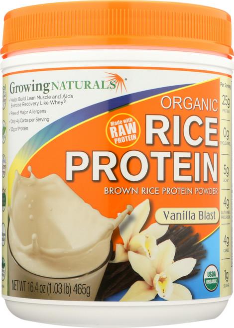 Organic Rice Protein Powder Vanilla - 1 Lb Vanilla Blast