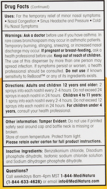 Cold / Flu Reboost™ Decongestion Nasal Spray 0.68 Fl oz 20 Ml