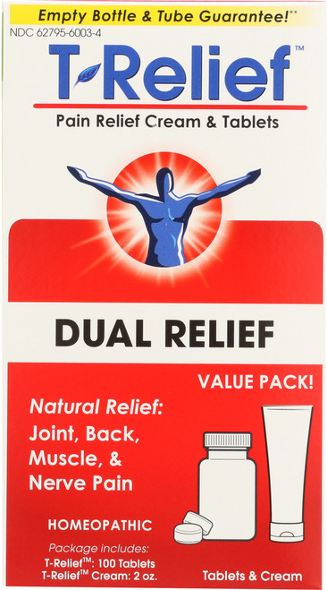 Pain Relief T-Relief™ Pain Relief Value Pack Ointment And Tablets