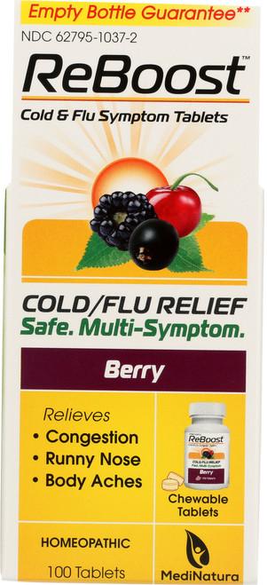 Cold / Flu Reboost Cold / Flu Tablets - Berry