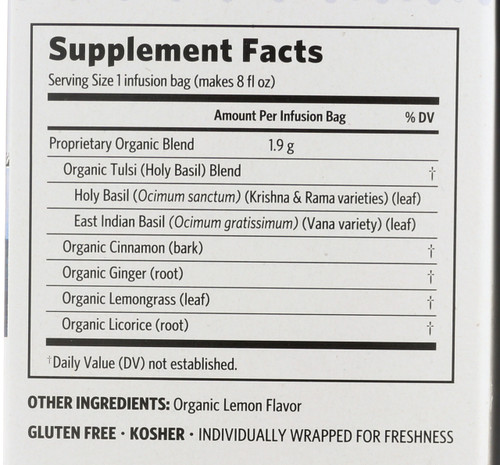 Tulsi Tea Licorice Spice 18 Bags 1.21oz