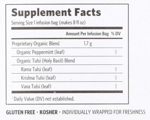 Tulsi Tea Peppermint Stress-Relieving & Refreshing* 18 Bag 1.08oz
