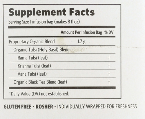 Tulsi Tea India Breakfast 18 Bags 1.08oz