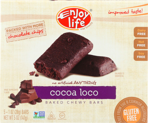 Baked Chewy Bars Cocoa Loco